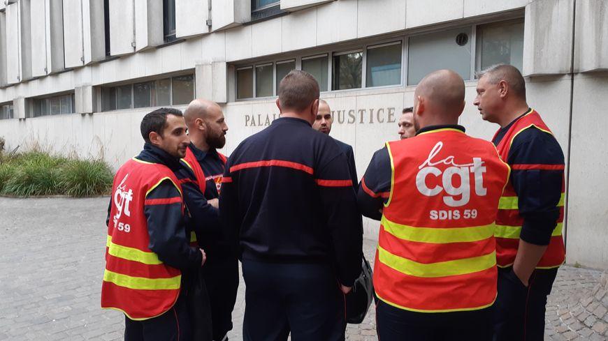 Les représentants de la CGT du SDIS ont déposé leur plainte directement au TGI de Lille