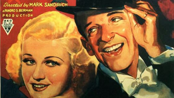 Affiche du film Top Hat (détail)