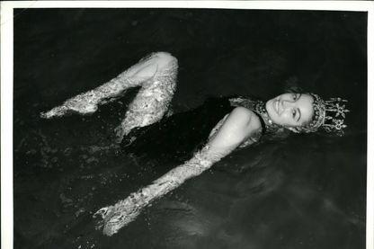 Esther Williams, championne olympique de natation devenue stars du 7e art dans les années 1940, grâce notamment à ses apparitions dans des comédies musicales aquatiques
