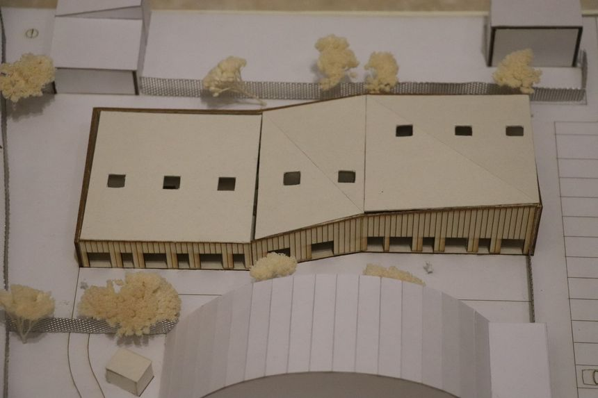 Maquette du futur centre social et culturel l'Alco