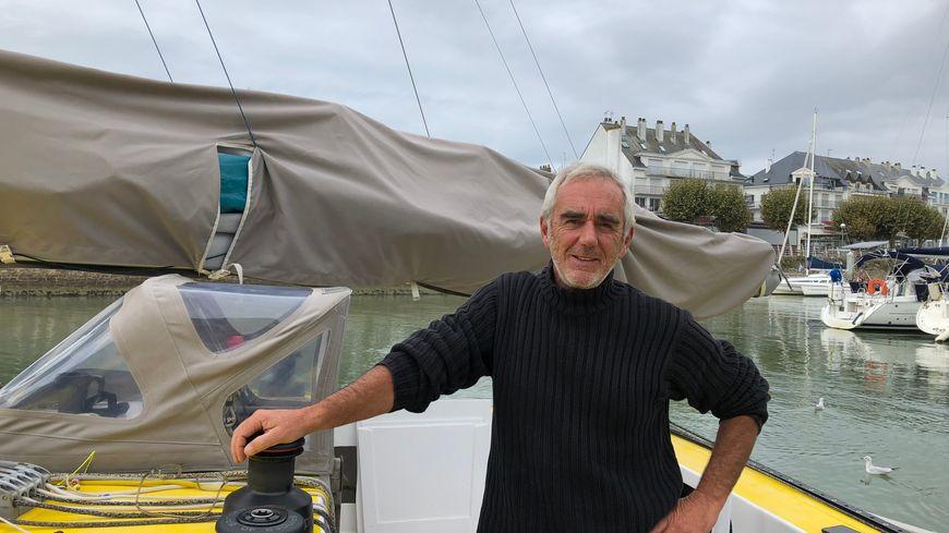 Loïck Peyron a préparé Happy dans le port du Pouliguen