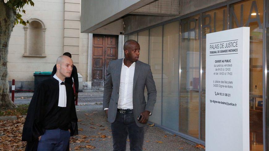 Comparution de l'ancien joueur de l'OM Souleymane Diawara au tribunal correctionnel de Digne-les-Bains