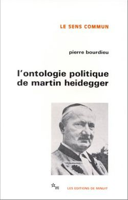 L'ontologie politique de Martin Heidegger
