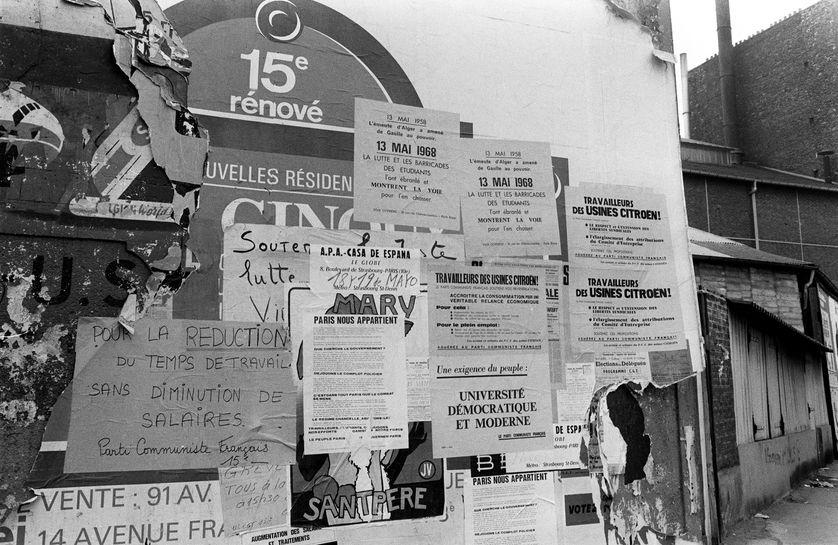 Les ouvriers grévistes de Citroen, qui occupent leur usine, ont voté la poursuite de la grève le 24 mai 1968.