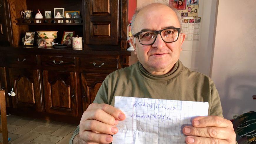 Georges Faugère et son épouse touchent moins de 1200 euros de retraite par mois à eux deux