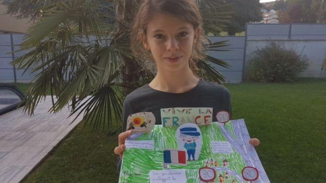 Clarisse de Sorbiers remporte le concours de dessin dans la catégorie des plus de 10 ans.