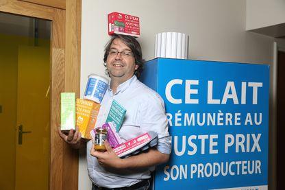 """Nicolas Chabanne? fondateur de """"C'est qui le patron"""" au siège de l'entreprise dans le 9ème arrondissement de Paris, le 5 septembre 2018."""