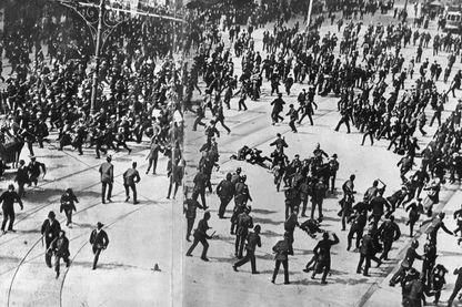 Grève générale des conducteurs et travailleurs du tramway à Dublin, le 31 août 1913