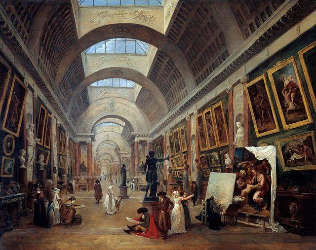 """La Grande Galerie du Louvre"" par Hubert Robert, 1796"