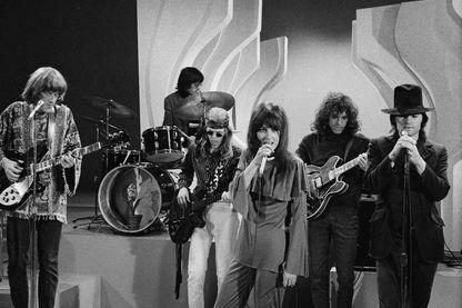 Jefferson Airplane, groupe de rock. Photo datée du 1er novembre 1968.