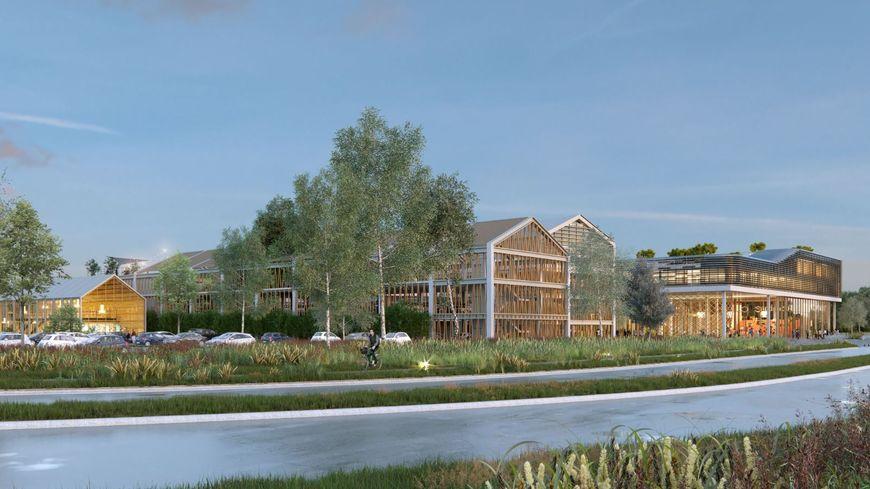 L'architecture en bois doit permettre aux bâtiments de s'insérer dans les espaces verts.