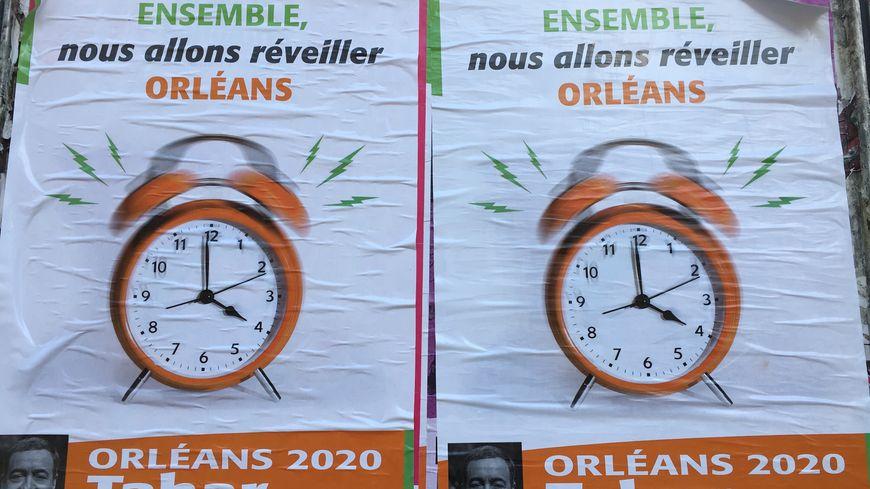 """L'affiche """"Ensemble nous allons réveiller Orléans"""" a été tirée à 2 000 exemplaires"""