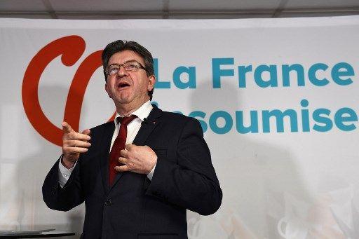 Jean-Luc Mélenchon, le  dirigeant de la France insoumise, pris en photo le 19 janvier 2018