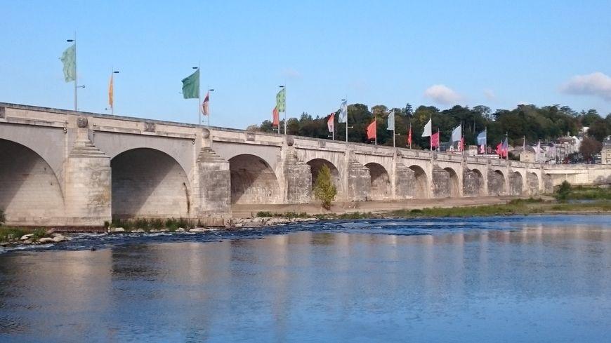 Le Pont Wilson à Tours, vu de St-Cyr