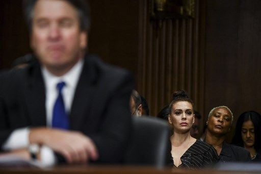 Alyssa Milano, spectatrice attentive de l'audition de Brett Kavanaugh