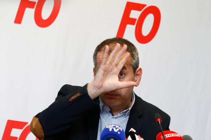 Pascal Pavageau - Conférence de presse au siège de F.O. - 1er Mai 2018