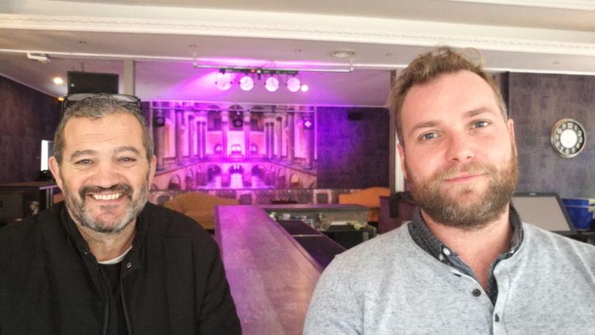 Le propriétaire du Barrock et du Barrock-club Didier Saint-Laurent et son programmateur Gaétan Lemoine