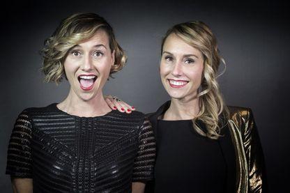 Les soeurs jumelles Anne-Sophie (à gauche) et Marie-Aldine Girard (à droite). Elles viennent de publier leur deuxième livre écrit à quatre mains !