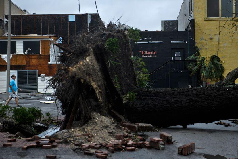 Dégâts après le passage de l'ouragan Michael en Floride