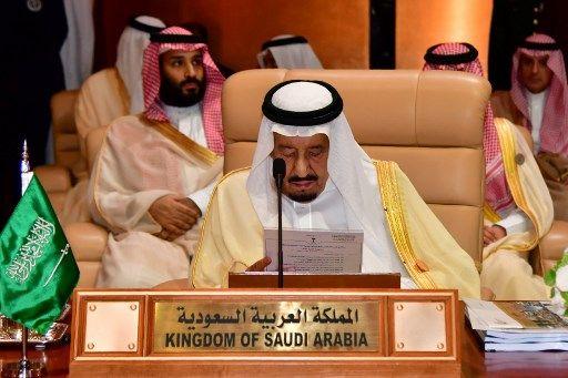 Le roi Salman bin Abdulaziz et son fils, désigné héritier du pouvoir, le prince Mohammed bin Salman
