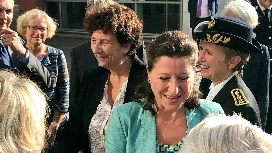 La ministre de la Santé Agnès Buzyn et la ministre de l'Enseignement supérieur Frédérique Vidal étaient de passage à la fac de médecine de Rouen ce samedi 13 octobre.