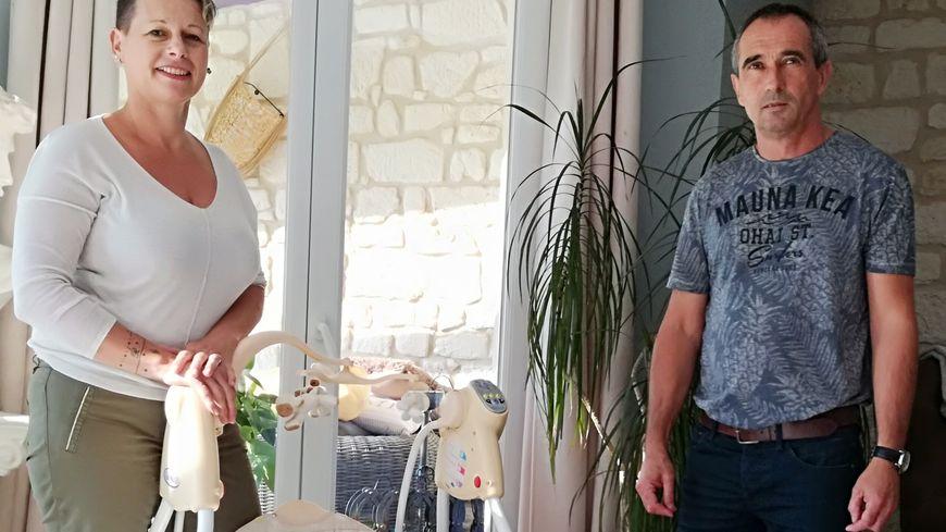 Nadia et Franck Pavie dans leur maison de Fresville