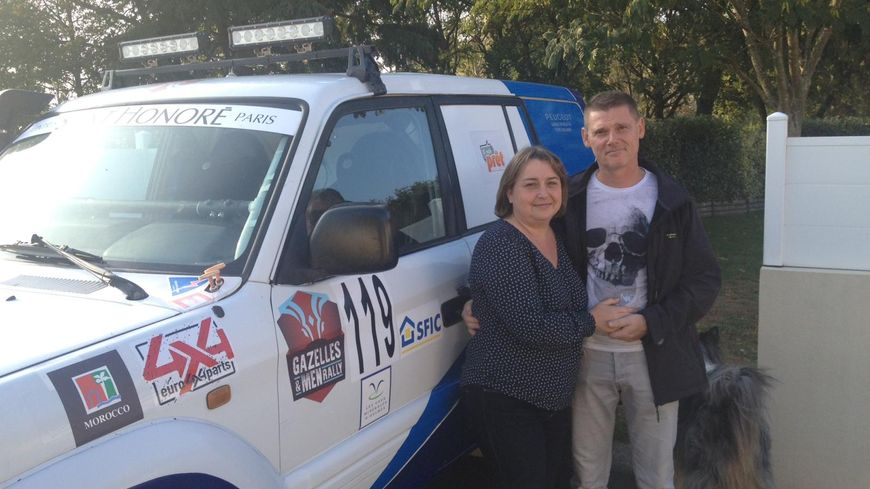 Pour Linda et Fabrice Dommée, participer à ce rallye en couple, c'est un défi autant sportif que personnel