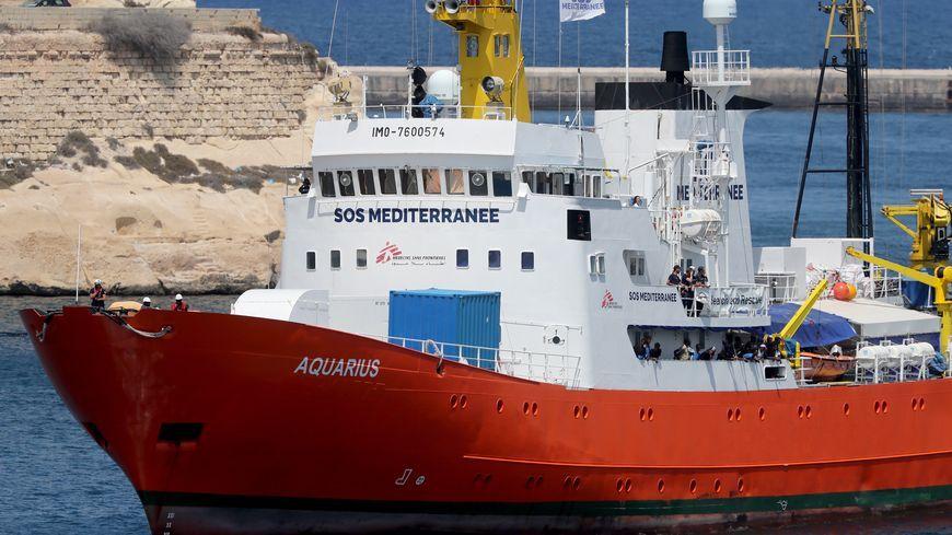 L'Aquarius est le navire de SOS Méditerranée, association basée à Marseille.