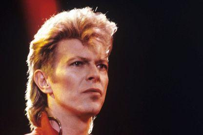 """David Bowie, le 07 juin 1987 pour le concert """"Rock am Ring"""" près de Nürburg en Allemagne"""
