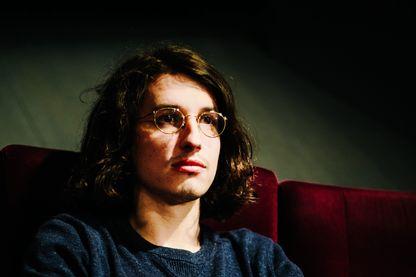 Portrait de Bastien Vives, auteur de bande dessinée, à l'occasion d'un atelier au cinéma le Forum des Images le 15 décembre 2017.