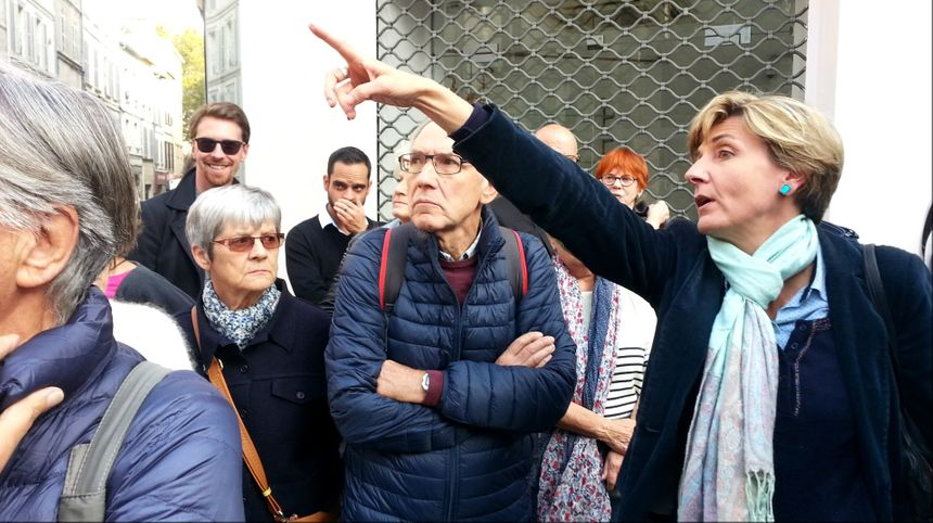 Cécile Helle a confirmé aux riverains que l'horloge place Carnot sera conservée