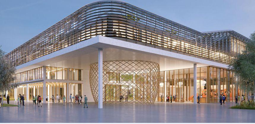 L'un des bâtiments de ce futur quartier Cœur d'Aéroparc.