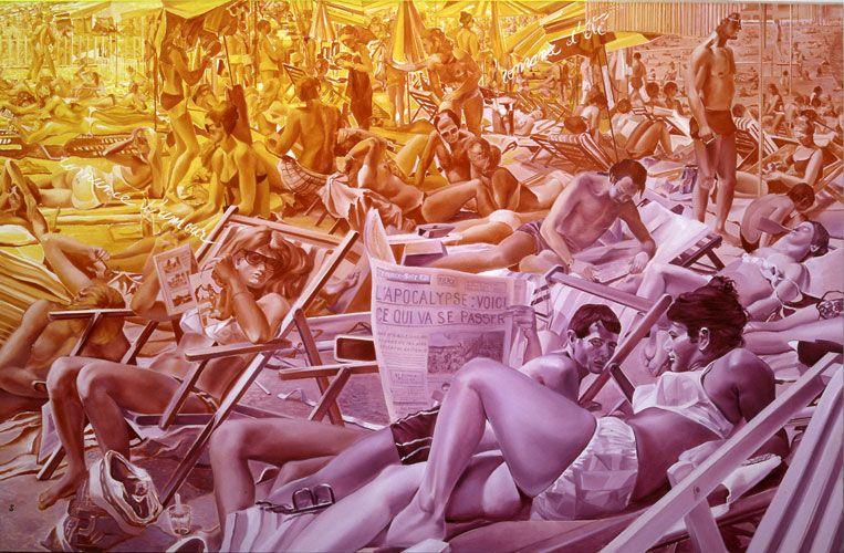 Toxique n°12, L'Apocalypse, Jacques Monory, 1982, Musée d'Art Moderne Fukuoka (Japon)