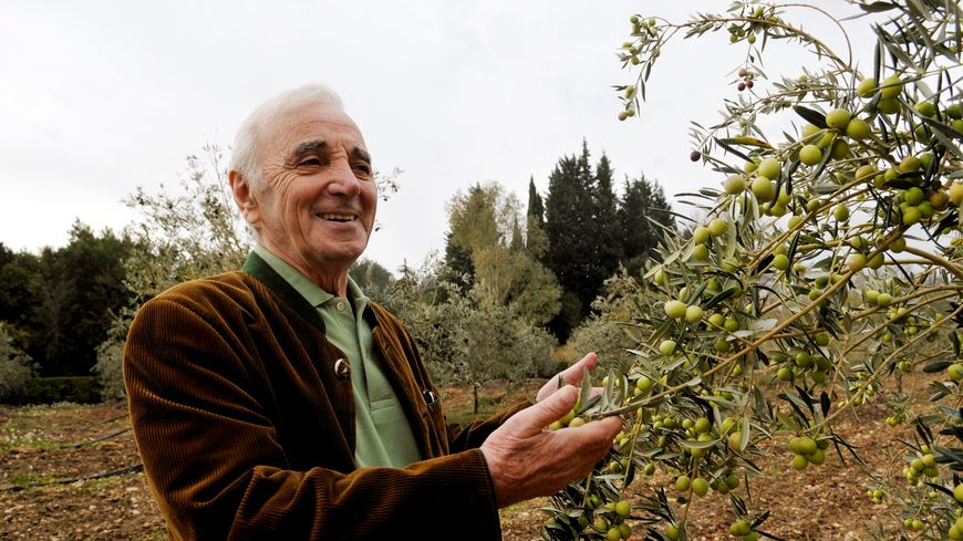 Dans sa propriété de Mouriès, Charles Aznavour produisait sa propre huile d'olives.