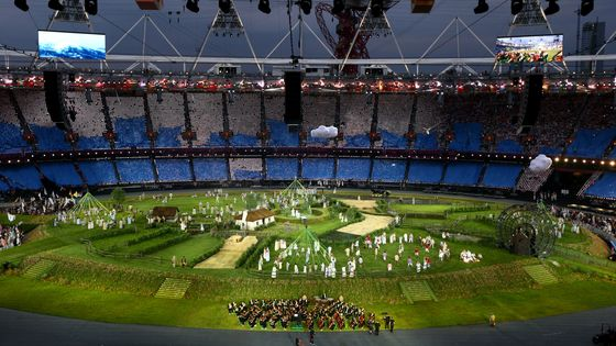 Cérémonie d'ouverture avec le London Symphony Orchestra à Londres en 2012