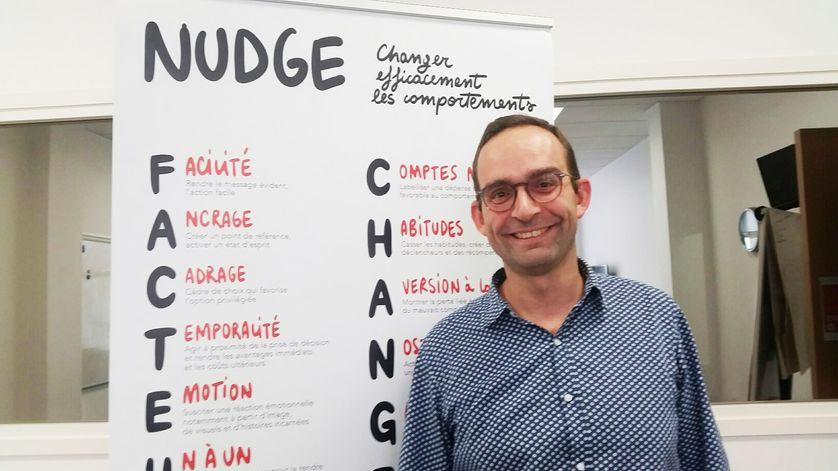"""Etienne Bressoud, directeur général délégué , de la """"Nudge Unit"""" chez BVA"""
