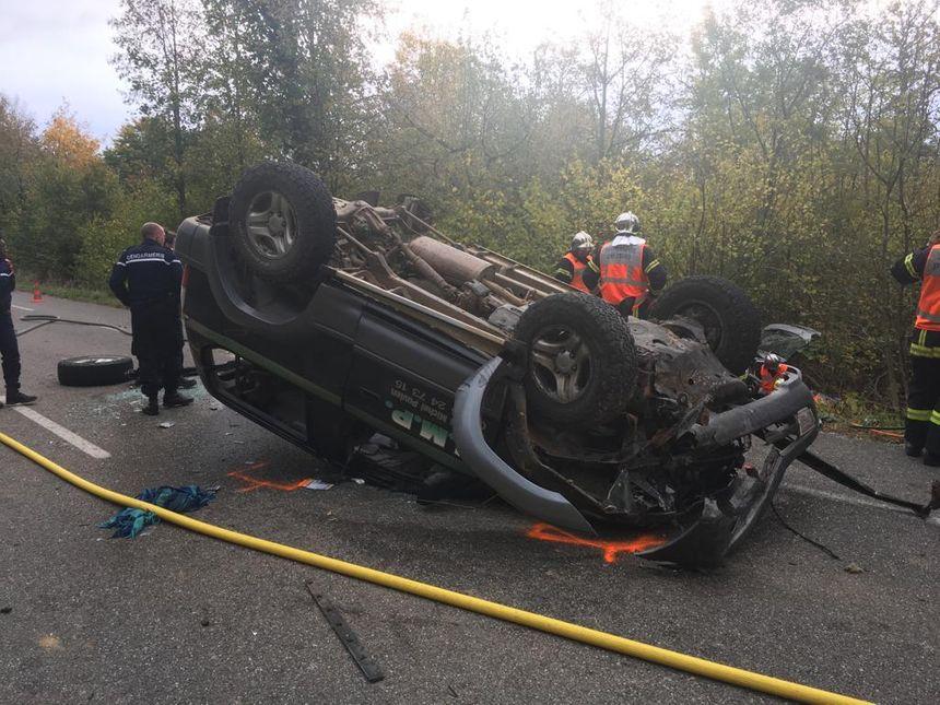 Accident sur la RD421 à hauteur de Saverne, le 24 octobre 2018