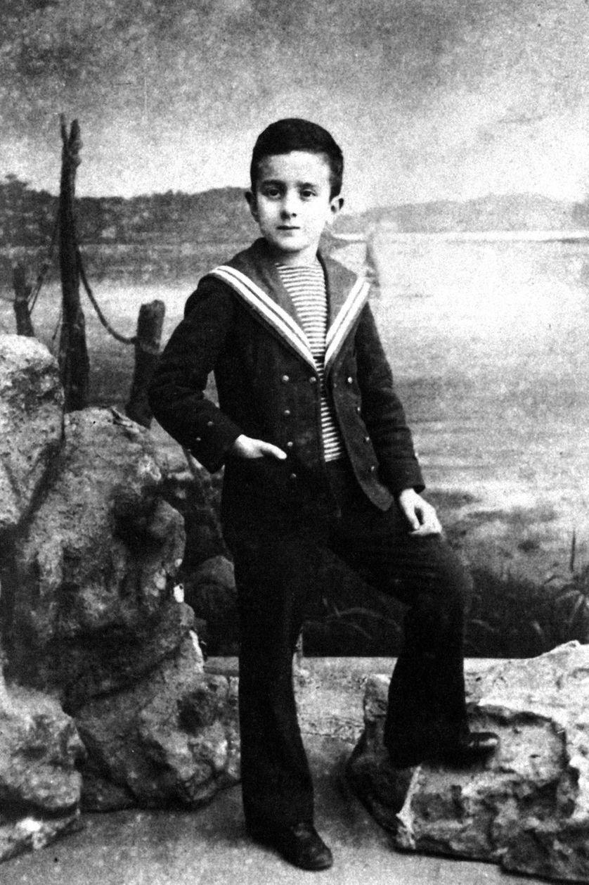Fernando Pessoa à l'âge de 7ans en 1895