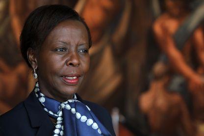 Louise Mushikiwabo, Ministre des Affaires étrangères du Rwanda, et probable Secrétaire Générale de la Francophonie, lors de l'Assemblée générale de l'ONU à New York en septembre 2018.