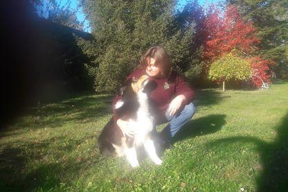 Audrey et son chien Joe