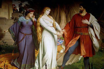 146/5000 Tristan rencontre Isolde pour la dernière fois avant de se séparer pour toujours d'elle ( XIXe siècle)