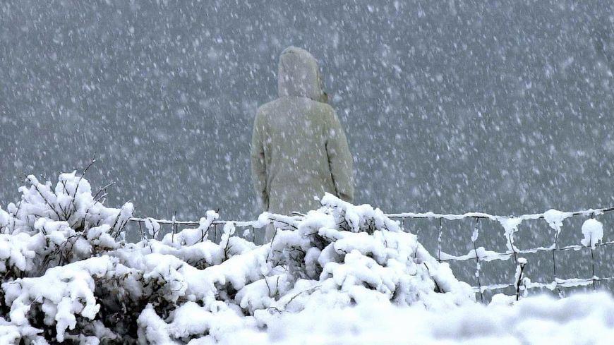 Rien à voir avec cette photo d'archives, mais il a un peu neigé sur la Vendée ce dimanche soir