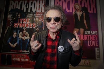 """Philippe Manœuvre, critique musical, rédacteur en chef du magazine """"Rock & Folk"""" durant vingt-quatre ans (de 1993 à 2017)."""