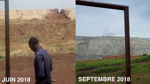 Durant l'été 2018, un remblai a été mis en place pour contenir les débordements de boue cyanurée.