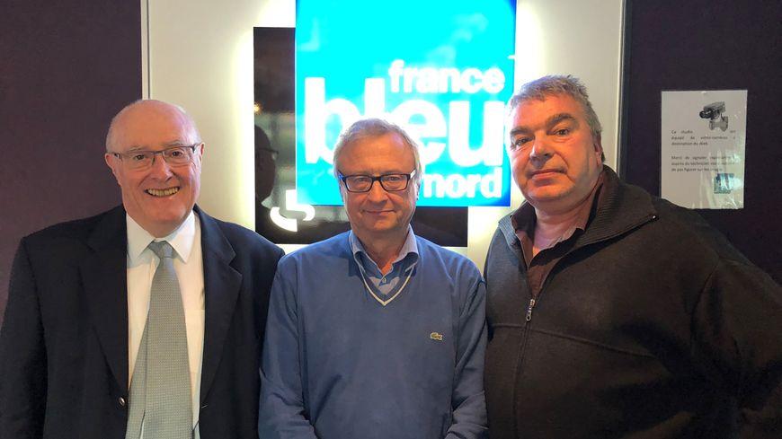 Jean-Marie Laurent, André Crobez et Alain Croix