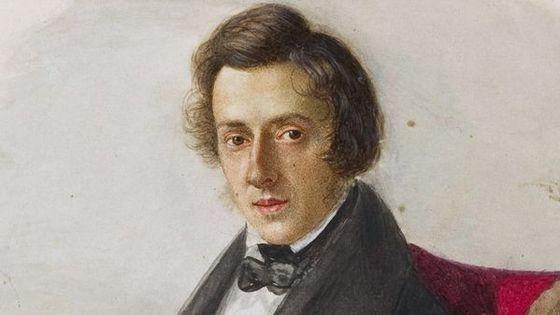Portrait de Frédéric Chopin par Maria Wodzińska vers 1835