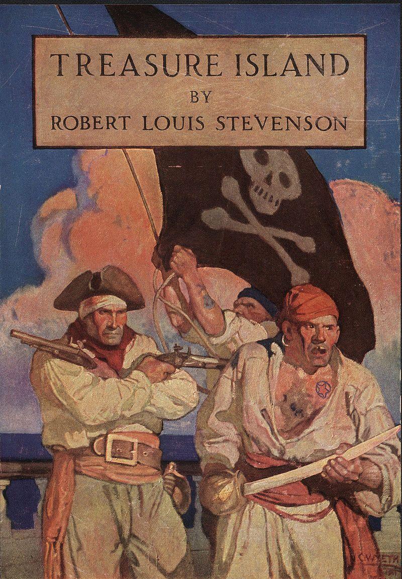 L'ïle au trésor, de Robert-Louis Stevenson, Couverture d'une édition britannique de 1911