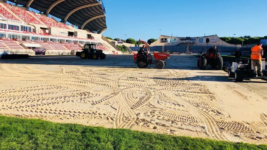 Le stade de la Méditerranée à Béziers