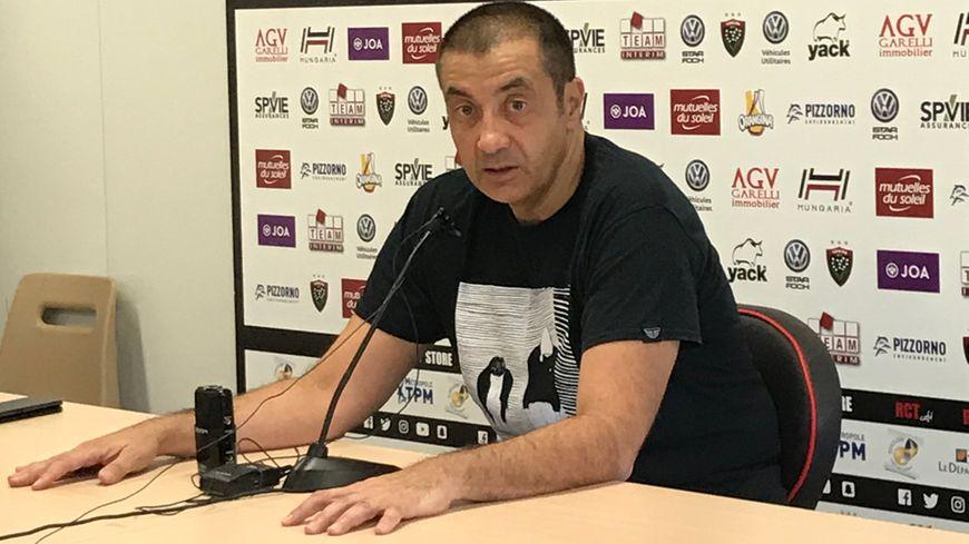 Le Président du Rugby Club Toulonnais en pleine mise au point