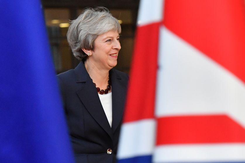 Theresa May, la première ministre britannique est arrivée à Bruxelles.